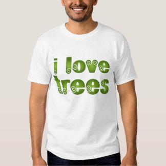 I Love Trees Gift T-shirts