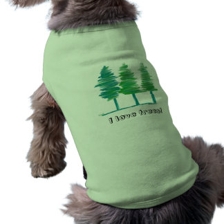 I Love Trees pet t-shirt