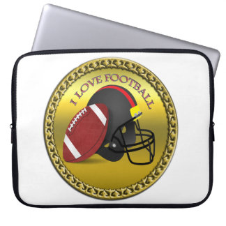 I love trendy elegant modern football laptop sleeve