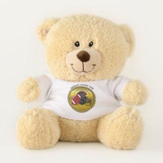 I love trendy elegant modern football teddy bear