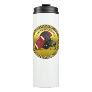 I love trendy elegant modern football thermal tumbler