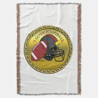 I love trendy elegant modern football throw blanket