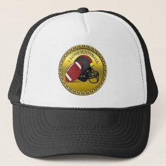 I love trendy elegant modern football trucker hat