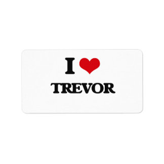 I Love Trevor Address Label