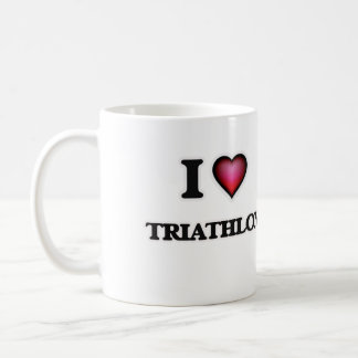 I Love Triathlon Coffee Mug