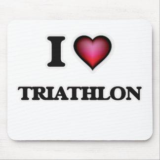 I Love Triathlon Mouse Pad