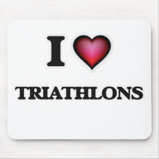 I Love Triathlons Mouse Pad