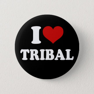 I Love Tribal 2 Inch Round Button