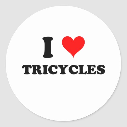 I Love Tricycles Sticker