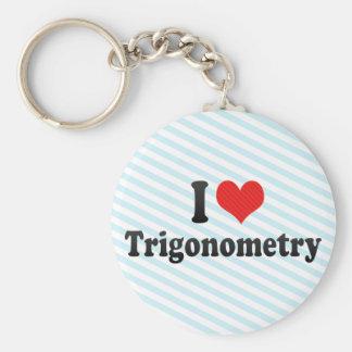 I Love Trigonometry Keychain