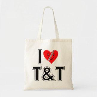 I Love Trinidad and Tobago Budget Tote Bag