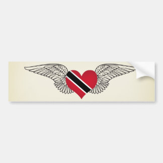 I Love Trinidad and Tobago -wings Bumper Sticker