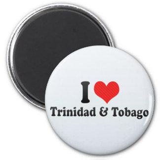 I Love Trinidad & Tobago 2 Inch Round Magnet