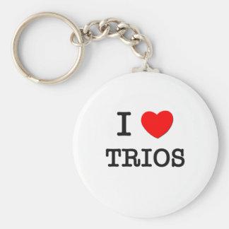 I Love Trios Keychain