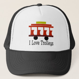 I Love Trolleys Trucker Hat