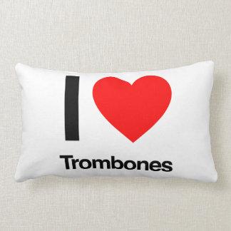 i love trombones lumbar pillow