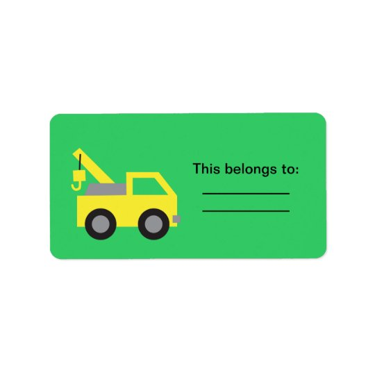 I love Trucks, Cute Yellow Vehicle for kids