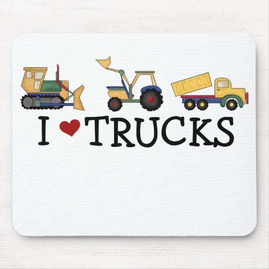 I Love Trucks Mouse Pad