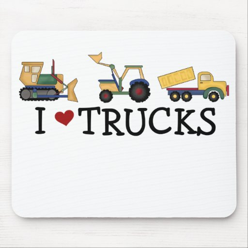 I Love Trucks Mousepad
