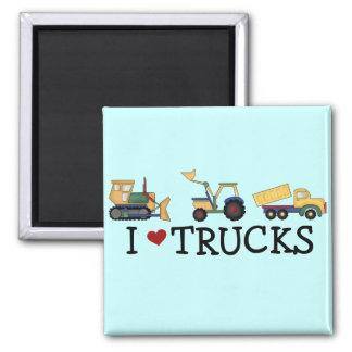 I Love Trucks T-shirts and Gifts Refrigerator Magnets