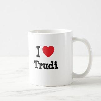 I love Trudi heart T-Shirt Mug