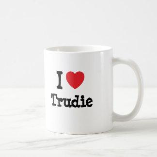 I love Trudie heart T-Shirt Mug