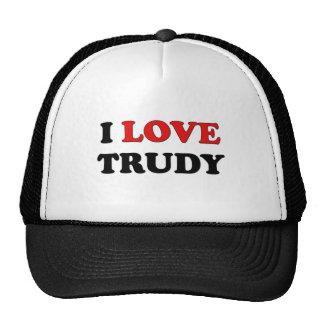 I Love Trudy Trucker Hats