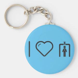 I Love TSA Keychain