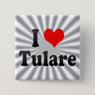 I Love Tulare, United States 2 Inch Square Button