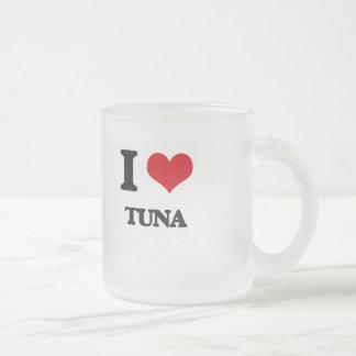 I love Tuna Frosted Glass Mug