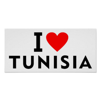 I love Tunisia country like heart travel tourism Poster