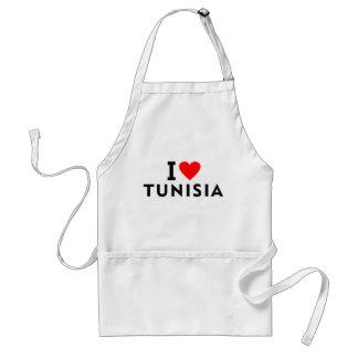 I love Tunisia country like heart travel tourism Standard Apron