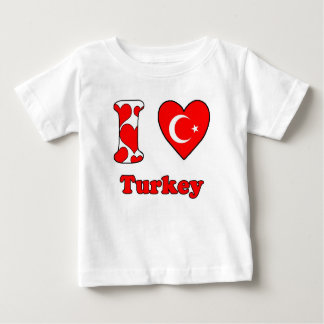 I love Turkey Baby T-Shirt