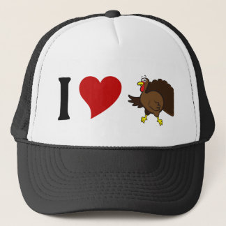 I Love Turkey Trucker Hat