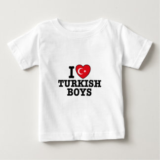 I Love Turkish Boys Baby T-Shirt