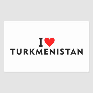 I love Turkmenistan country like heart travel tour Sticker