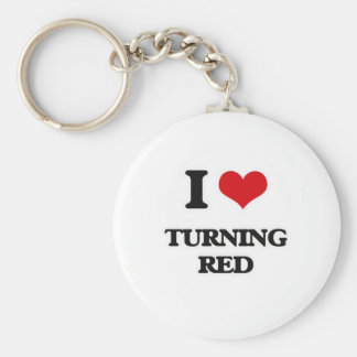 I Love Turning Red Keychain