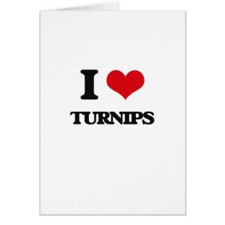 I love Turnips Card
