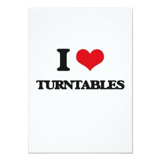 I love Turntables 5x7 Paper Invitation Card