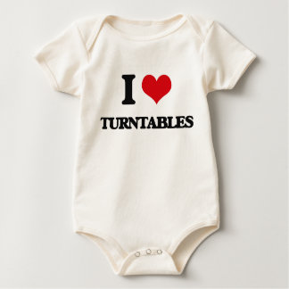I love Turntables Baby Bodysuits