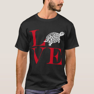 I Love Turtles - Dark Colored Tee