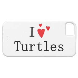 I Love Turtles iPhone 5 Covers