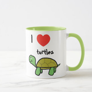 I love turtles sulk mug