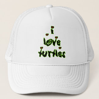 I Love Turtles Trucker Hat