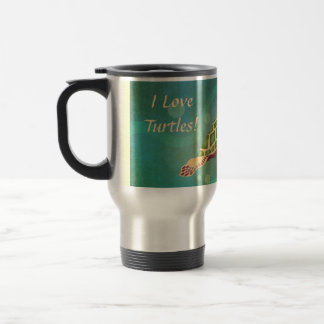 I Love Turtles! Turtle Power. Travel Mug