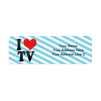 I Love TV Return Address Label