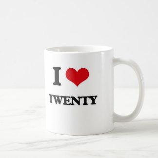 I Love Twenty Coffee Mug
