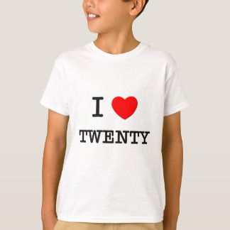 I Love Twenty T-Shirt