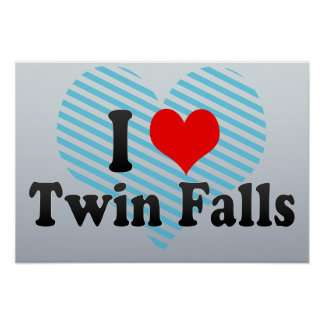 I Love Twin Falls, United States Poster