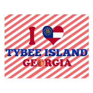 I Love Tybee Island, Georgia Postcard